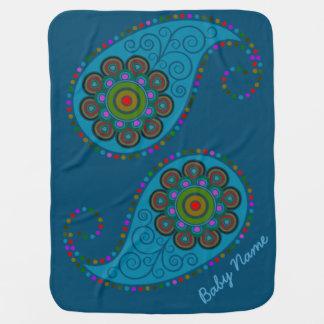 Paisley - multicolora - personalice mantitas para bebé