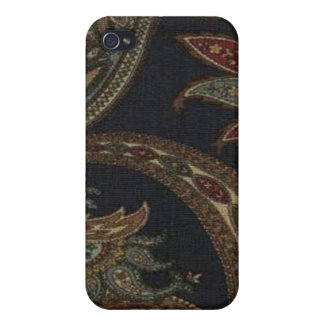 Paisley Navy Wine Olive Sage Speck Case iPhone4