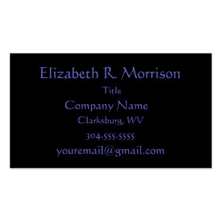 Paisley on Black Business Card Templates