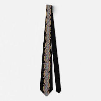 paisley on black tie