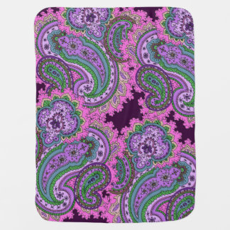 Paisley on deep Purple Receiving Blanket