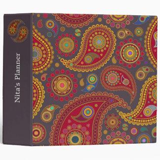 Paisley on Smoke Indian Pattern Binder