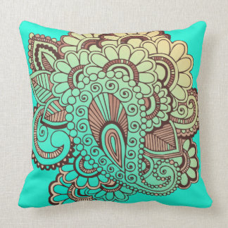 Paisley Ornaments I + your backgr. & ideas Throw Pillow