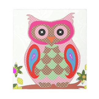 Paisley Owl Notepad