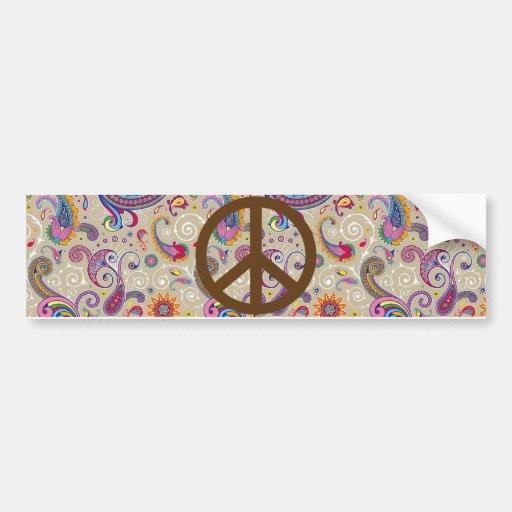 Paisley pacífica pegatina de parachoque