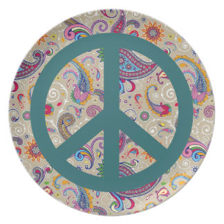 Paisley pacífica plato