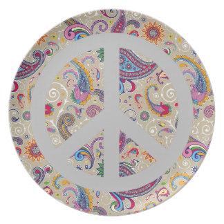 Paisley pacífica platos
