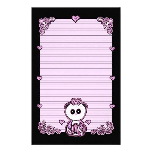 Paisley Panda Paper Stationery Paper