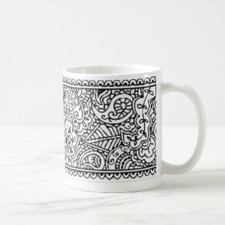 Paisley Passion - Black (Henna) Coffee Mug