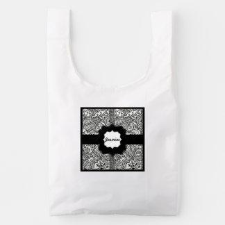 Paisley Passion - Black (Henna) Reusable Bag