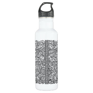 Paisley Passion - Black (Henna) Stainless Steel Water Bottle