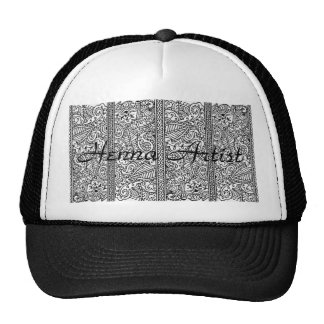 Paisley Passion - Black (Henna) Trucker Hat
