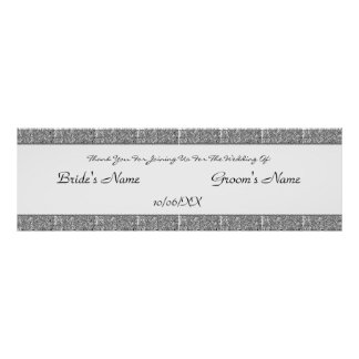 Paisley Passion - Black (Henna) (Wedding) Poster