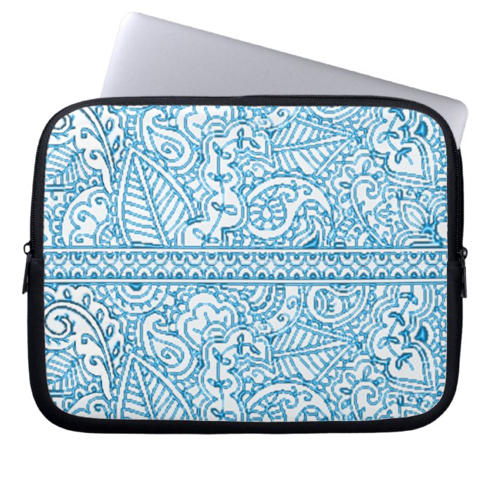 Paisley Passion - Blue (Henna) Laptop Sleeves