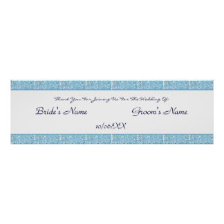 Paisley Passion - Blue (Henna) (Wedding) Poster