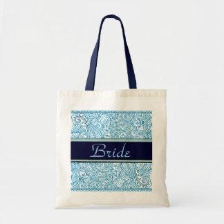 Paisley Passion - Blue (Henna) (Wedding) Tote Bag