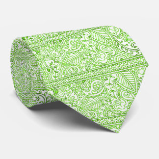 Paisley Passion - Green (Henna) Neck Tie