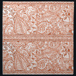 "Paisley Passion - Orange (Henna) Cloth Napkin<br><div class=""desc"">This Particular design is a paisley based pattern , a traditional symbol of peace &amp; luck in mehndi artwork. Mehndi is a ceremonial art form which originated in ancient India. Muslims also use it as an indication of coming of age. Intricate patterns of mehndi are typically applied to brides before...</div>"