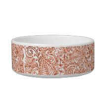 Paisley Passion - Orange (Henna) (Wedding) Bowl
