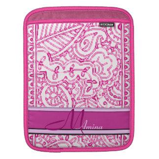 Paisley Passion - Pink (Henna) Monogram iPad Sleeve