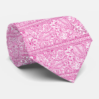 Paisley Passion - Pink (Henna) Neck Tie