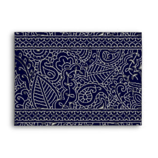 Paisley Passion - Silver Effect (Henna) Envelope