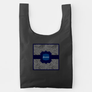 Paisley Passion - Silver Effect (Henna) Reusable Bag