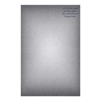 Paisley Passion - Silver Effect (Henna) Stationery