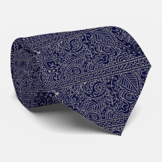Paisley Passion - Silver Effect (Henna) Tie