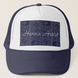 Paisley Passion - Silver Effect (Henna) Trucker Hat