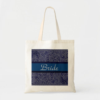 Paisley Passion - Silver Effect (Henna) (Wedding) Tote Bag