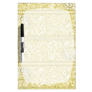 Paisley Passion - Yellow (Henna) Dry-Erase Whiteboards