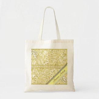 Paisley Passion - Yellow (Henna) Tote Bag