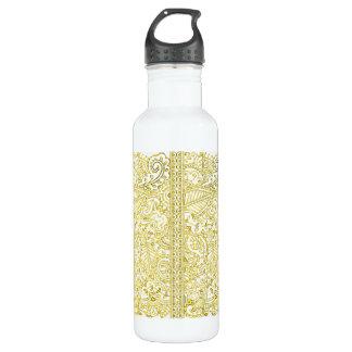 Paisley Passion - Yellow (Henna) Water Bottle