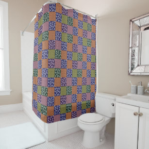 Paisley Patchwork Pattern Shower Curtain