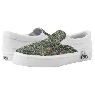 Paisley Pattern 3 Slip-On Sneakers