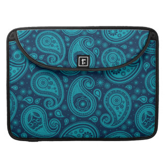 Paisley pattern blue elegant sleeve for MacBook pro
