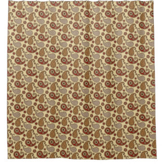 Brown And Tan Shower Curtains Zazzle
