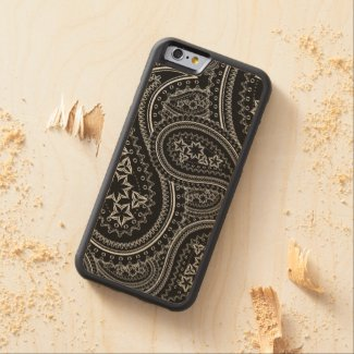 Paisley Pattern Carved® Maple iPhone 6 Bumper Case