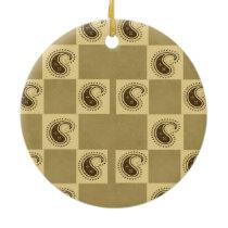 Paisley Pattern Ceramic Ornament