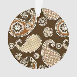 Paisley pattern, Chocolate Brown and Tan