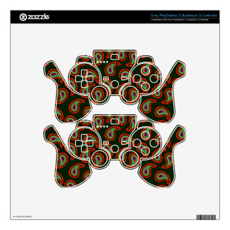 Paisley Pattern Decal For PS3 Controller