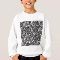 Paisley Pattern Design Print Black Sweatshirt
