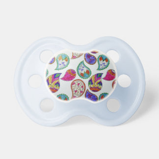 Paisley Pattern In Multi Colors Pacifier