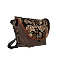 Paisley Pattern Messenger Bag