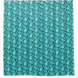 Turquoise Paisley Shower Curtains Zazzle