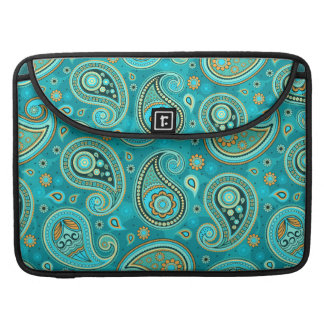 Paisley Pattern teal blue Sleeve For MacBook Pro