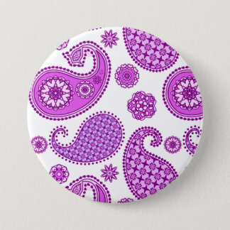 Paisley pattern, violet, purple and white button