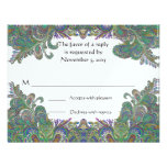 Paisley Peacock Colors Wedding Response Cards Invites