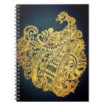 Paisley peacock notebook